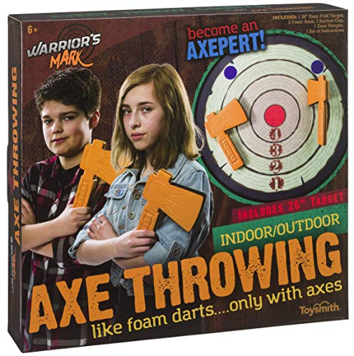 Toysmith Warrior's Mark Indoor/Axe Throwing Game Warrior's Mark Indoor/Outdoor Foam Axe Throwing Game]()