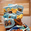 Gift Basket Drop Shipping Winnie The Pooh New Baby Basket - Blue, 13W x 12D x 15H in.