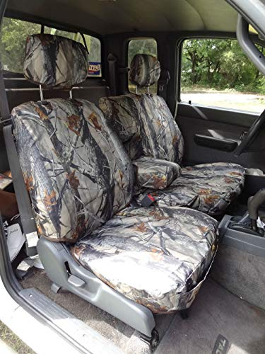 - Durafit Seat Covers, T772-XD3, 1995-2000 Toyota Tacoma Xcab, Front 60/40 Split Bench Seat with Integrated Armrest Seat Covers in Camo Waterproof Endura Fabric