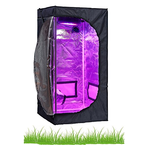 Hongruilite 24''x24''x48'' 36''x20''x63'' 32''x32''x63'' 48''x24''x60'' 48''x24''x72'' 48''x48''x78'' 96''x48''x78'' Hydroponic Indoor Grow Tent Room w/Plastic Corner (24''X24''X48'')