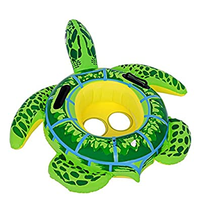 zhenyu Inflatable Swimming Pool Float Ring Float Toys for Baby Kids Frog Turtle Swimming Ring Circle Beach Sea Mattress Water (type1): Toys & Games