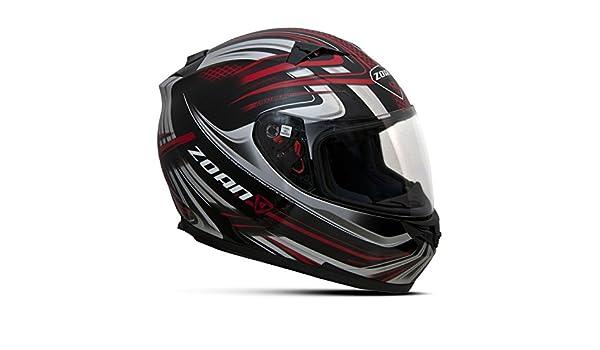 Zoan Blade Sv Reborn rojo negro Full Face calle motocicleta casco de equitación XL: Amazon.es: Coche y moto