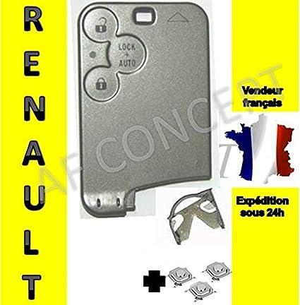 Carcasa tarjeta de llave Jongo Renault 3 botones mégane2 ...
