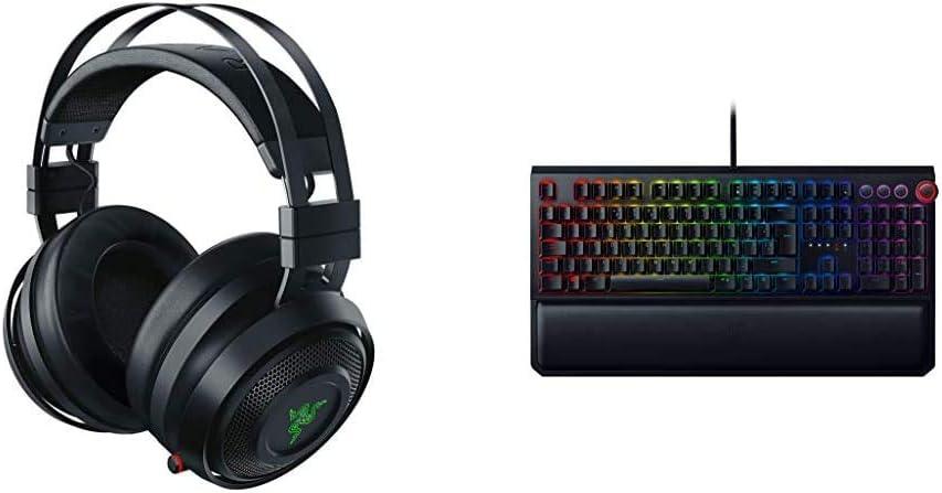 Razer Nari Auriculares Inalámbricos para Juegos con THX Spatial Audio + Blackwidow Elite - Teclado Gaming,Teclado Mecánico para Juegos Completo