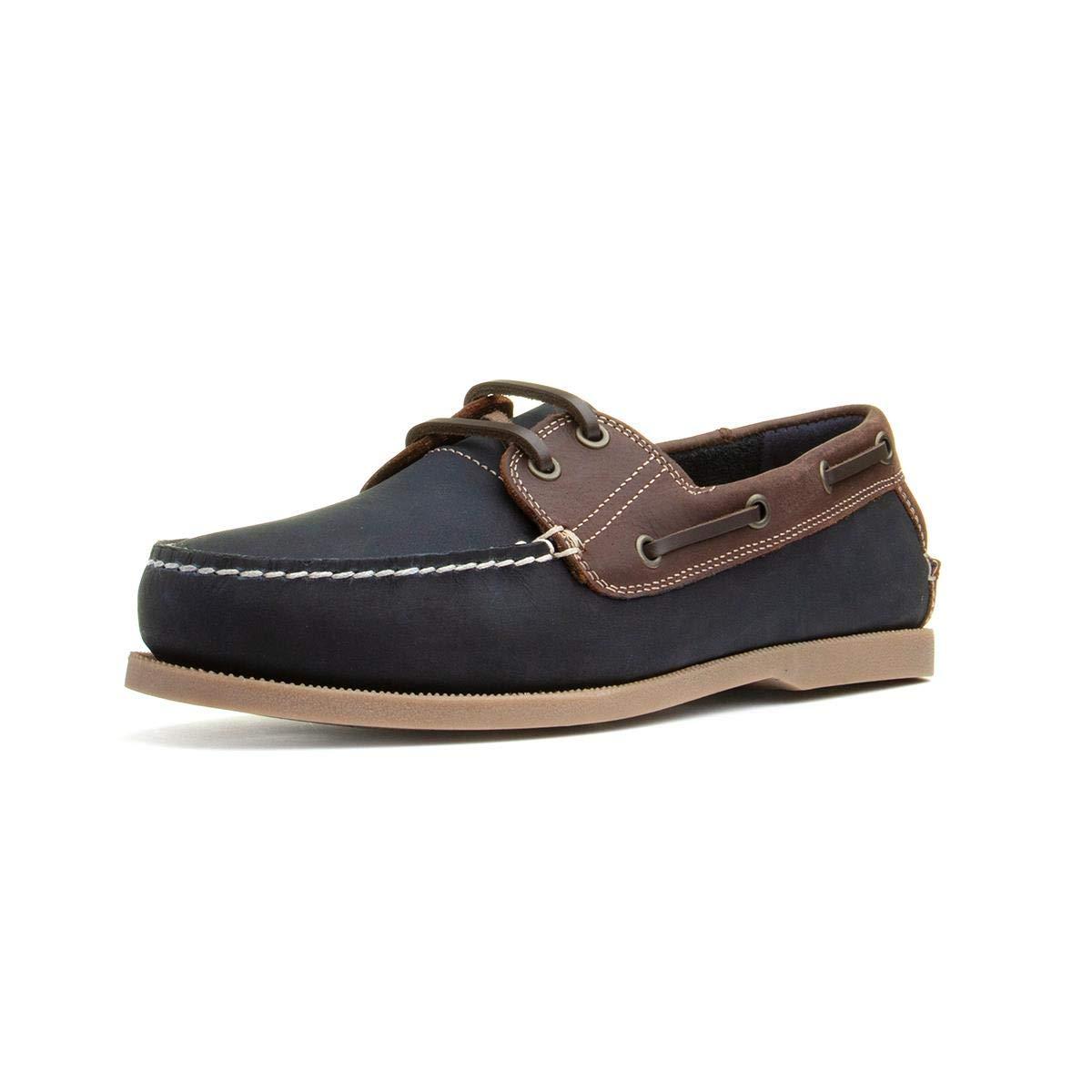 3d12f7d26558e Sterling & Hunt Rio Mens Navy Lace Up Boat Shoe