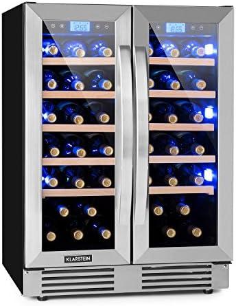 ESPACIOSO: La nevera Vinovilla Duo42 de Klarstein convence por su puerta acristalada, su volumen de