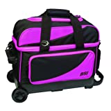 BSI Double Ball Roller Bowling Bag, Black/Pink