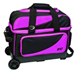 BSI Double Ball Roller Bowling Bag, Black/Pink