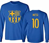 Barcelona Soccer Shirt Lionel Messi #10 Futbol Jersey Youth Long Sleeve T-shirt