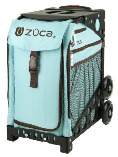 Zuca Calypso Sport Insert Bag (Turquoise/Brown) with Black Non-Flashing-Wheels Sport Frame