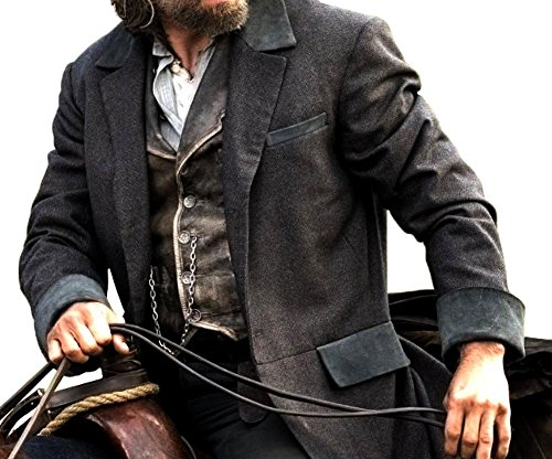 Cullen Costumes Ideas (Hell On Wheels Cullen Bohannon Costume Ideas Grey Cotton Coat 3XL)