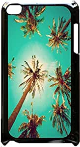 Palm Trees-Bottom View- Case for the Apple Ipod 4th Generation-Hard Black Plastic