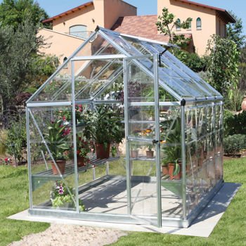 Palram Industries Harmony 6 X 8 Feet Greenhouse with Starter Kit