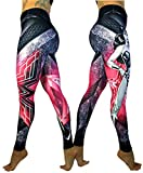 Exit 75 Superhero Many Styles Leggings Yoga Pants Compression Tights (Wonder Woman Pink Sm/Med)