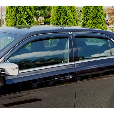 Auto Ventshade 94095 Original Ventvisor Side Window Deflector Dark Smoke, 4-Piece Set for 1992-2000 Chevrolet & GMC C/K1500-C/K3500 Crew Cab, 1995-2000 Tahoe & Yukon, 1999-2000 Escalade & Yukon Denali: Automotive