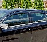 Auto Ventshade 94501 Original Ventvisor Side Window Deflector Dark Smoke, 4-Piece Set for 2005-2009 Hummer H3