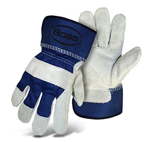 Boss Gloves 4095U Heavy Duty Select Split Cowhide Leather Pa