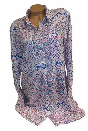 - Victoria's Secret 1PC Pajama The Mayfair Lightweight Sleepshirt Orange Paisley M