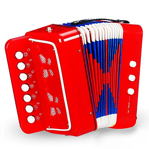 Price comparison product image On Accordion / Super Jolly Kids Accordion with Extra Strong Strap / Premium Quality ABS and Kraft Paper Material