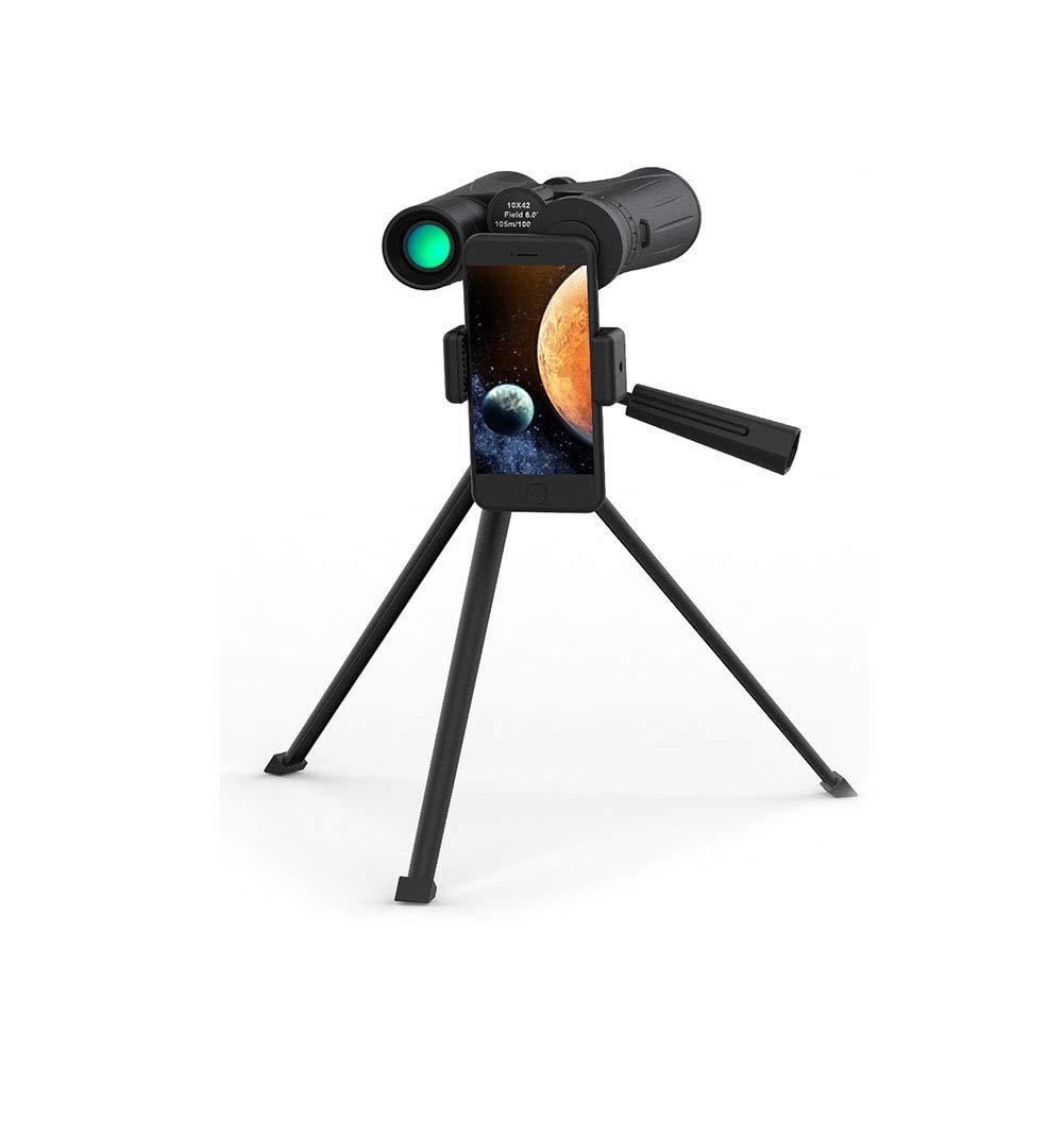 12x42 双眼鏡用大人低光ナイトビジョンコンパクト HD 双眼鏡用バードウォッチング BAK4 プリズム FMC レンズ付き電話マウントストラップキャリーバッグ   B07Q3691PK