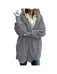 Amzeca Women Hooded Coat Jacket Hoodies Women's Shops Sweatshirts
