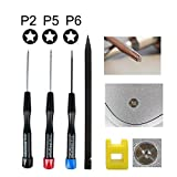 Precision Pentalobe Screwdriver Set P2 P5 P6 5-Point 5-Star 0.8 mm, 1.2 mm & 1.5 mm 3Pcs Pentalobe Screwdriver Bits Or Ts1 Ts4 Ts5 For Apple iPhone Macbook Pro, Air Retina Pentalobe Screwdriver