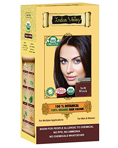 Indus Valley 100% Botanical 100% Organic Soft Black Hair Color For Allergy Sufferers