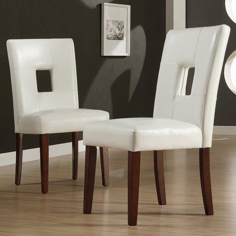 Amazon.com - TRIBECCA HOME Alsace Modern White Faux Leather ...