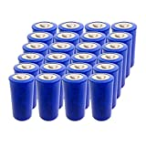 3.6V C Size ER 26500 9000mAh Lithium Thionyl Chloride Battery With Button Top (24pc)