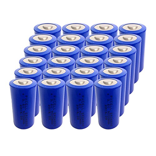 3.6V C Size ER 26500 9000mAh Lithium Thionyl Chloride Battery With Button Top (24pc) by pkcell