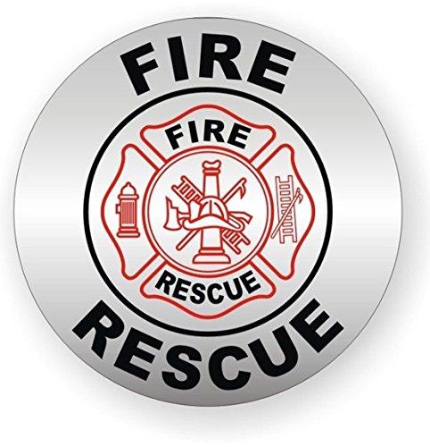 (1 PCs Greatest Popular Fire Rescue Vinyl Stickers Weatherproof Hard Hat Decal Safety Helmet Size 2