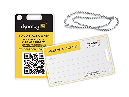 dynotag-web-gps-enabled-qr-smart-fashion-luggage-tags-2-identical-tags-chains-bumblebee