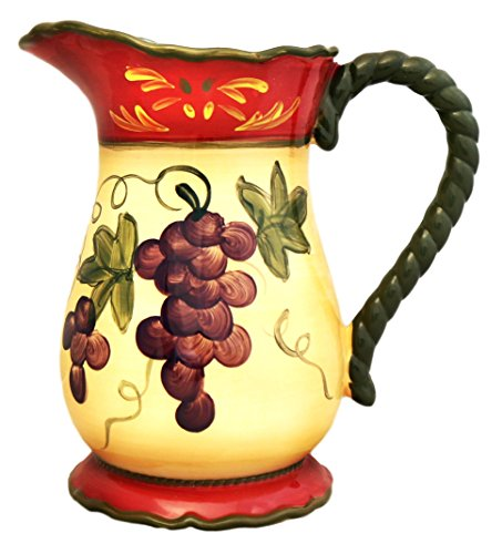Colorful Grapes Water Pitcher