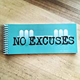 TrainRite Workout & Fitness Journal - NO EXCUSES (Turqouise)