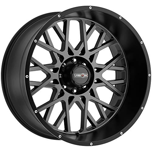 Vision Rocker 20x12 Gray Black Wheel / Rim 5x5.5 with a -51mm Offset and a 108 Hub Bore. Partnumber 412-20285ABL-51 5 X 150 Rims