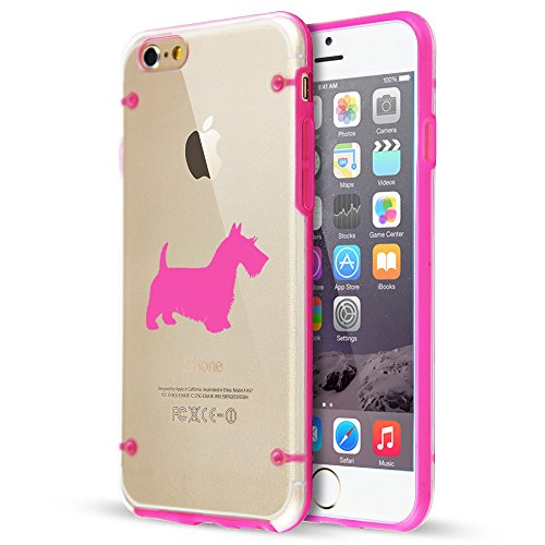 For Apple iPhone Ultra Thin Transparent Clear Hard TPU Case Cover Scottie Scottish Terrier (Hot Pink For iPhone - Iphone Scottish Terrier