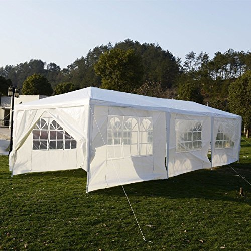 Oshion 10'x30′ White Outdoor Gazebo Canopy Heavy Duty Wedding Party Tent 8 Walls