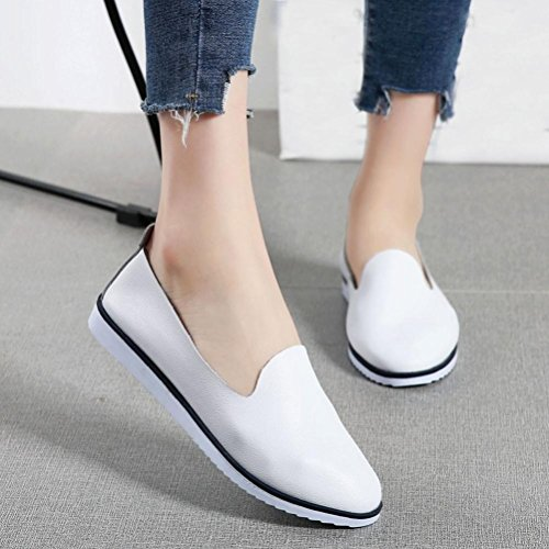 Neartime Promotion❤️Women Shoes, 2018 Fashion Flats Leather Shoes Shallow Slip On Leisure Lazy Comfortable Sandals by Neartime Sandals (Image #3)