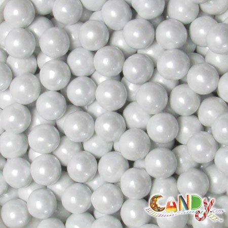 Sixlets Shimmer White Balls: 10 LBS -