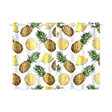 InterestPrint Tropical Theme Home & Kitchen Decor, Yellow Pineapple Window Treatment Panel Curtains,Set of 2,Total 52″x 39″