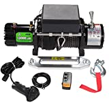 OFFROAD BOAR Truck Winch with Black Synthetic Rope 13000lb Load Capacity