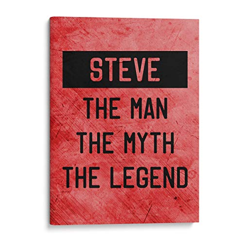 (Hot4TShirts The Man The Myth The Legend Canvas Wall Decor — Funny Custom Personalized Gift (Red, 12