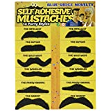 Blue Ridge Jokes Allures and Illusions Fake Mustache Novelty and Toy, Pack of 36 Mustaches