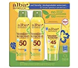 Alba Botanica Coconut Clear and Green Tea Sunscreen 3 Pack