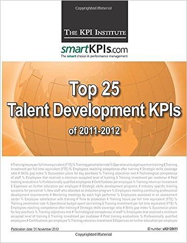 Top 25 Talent Development KPIs of 2011-2012