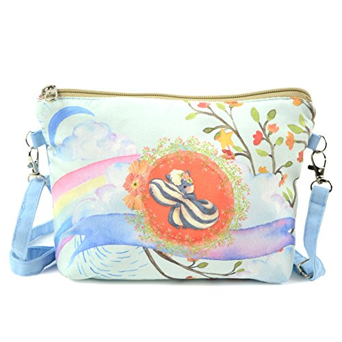POPUCT Casual Small Canvas Crossbody Shoulder Bag for Girls and Teenagers(squirrel)
