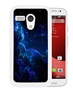 New Fashion Custom Designed Cover Case For Motorola Moto G With Blue Clouds Outer Space White Phone Case