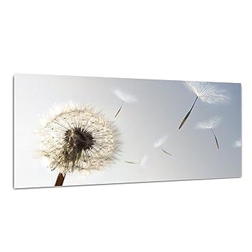 """Glasbild /""""Blumen/"""" von DEKOGLAS 125x50 aus Glas Wohnzimmer Wand Bild modern"""