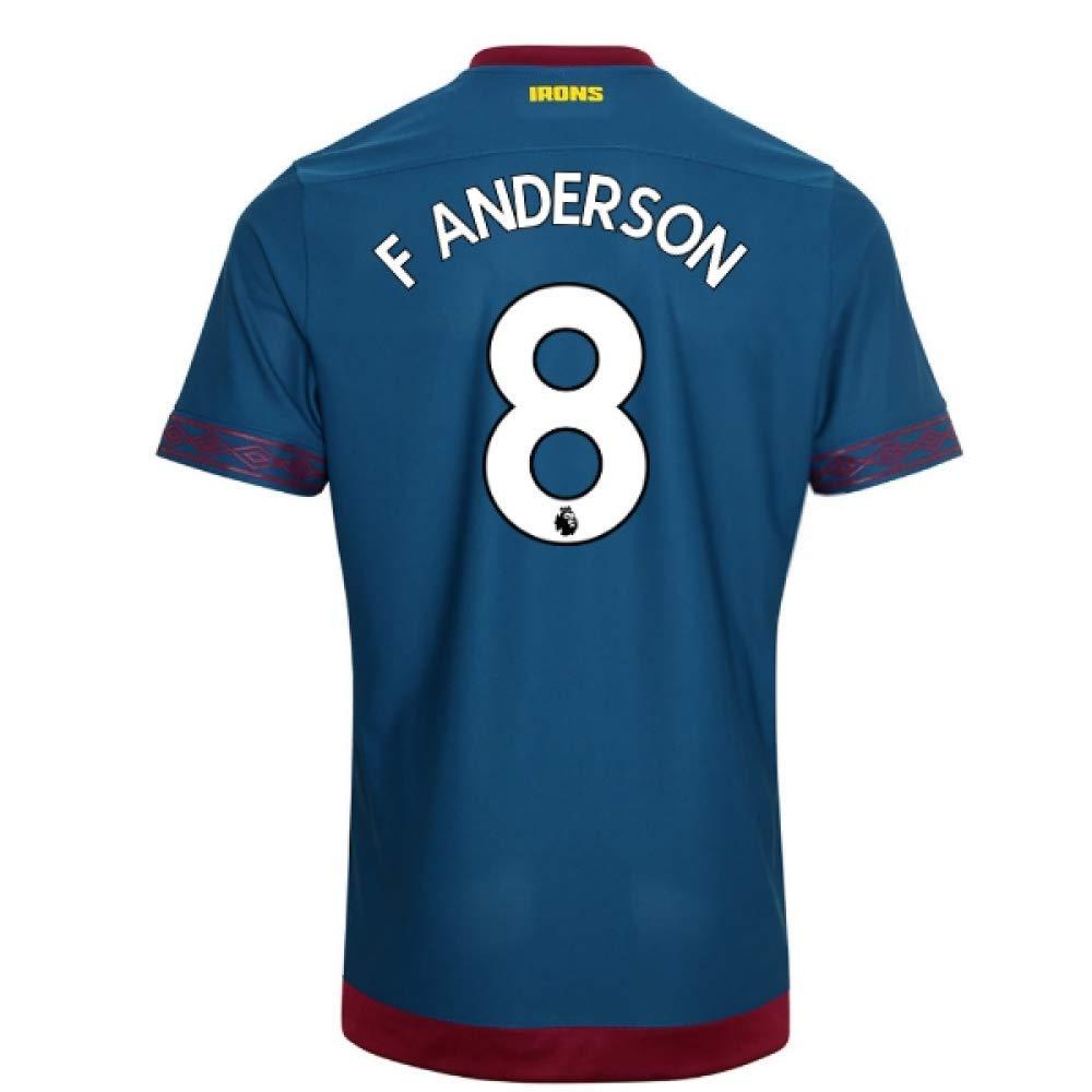 2018-2019 West Ham Away Football Soccer T-Shirt Trikot (Felipe Anderson 8)