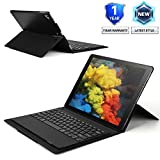 Vivefox iPad Keyboard Case 12.9, iPad Folio Built-in Stand Case Detachable Bluetooth Keyboard for iPad Pro 12.9 Inch(2017/2015), with 180 Degree Stepless Adjustment, Apple Pencil Holder (Black #1)